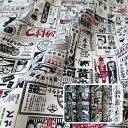 [AP85408-2] レトロ広告看板柄 コットンプリント 11号帆布...