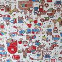 [KT-729387] ◆ハローキティ おもちゃのくに コットン オックスプリント生地 布地 (10cm単位) (メール便可)