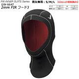 【新登場】ガル 3mmFIRフード2 GW-6647 2020モデル 男女兼用 ダイビング 3ミリフード ブラック3 サイズ S/M/L 遠赤外線起毛素材 ウエットドライ兼用保温フード