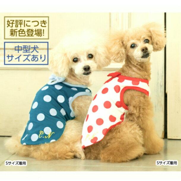 犬の服 適温キープTシャツ アウトラスト ドット Tシャツ SS S M L LL cannana614 Tee 犬 服  愛犬服 犬服 タンクトップ ドッグウェア