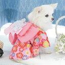 小型犬 浴衣 ふんわり帯の映えるゆかた cannana 限定 きもの SS S M L LL お祭りグッズ わんちゃん浴衣 犬 和服 その1