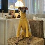 イタグレ服IGベーシックオールインワンロンパースつなぎイタリアン・グレイハウンドウィペットベドリントンテリアドッグウェア犬服