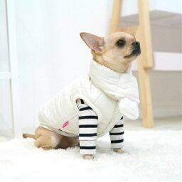 中型犬 服 マフラー付きキルトジャケット アウター コート ベスト ドックウェア 3XL