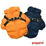小型犬服ハーネス一体型防寒ジャンパーコートハーネス付きジャケット犬服PuppiaドッグウェアSMLサイズ