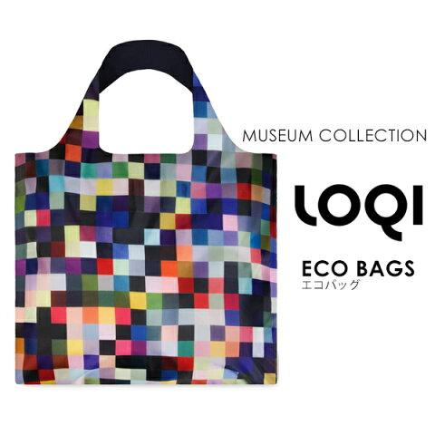 ローキー エコバッグ 折りたたみ レジカゴ ミュージアムコレクション ショッピングバッグ レジ袋型 ナイロン メンズ レディース LOQI 和柄