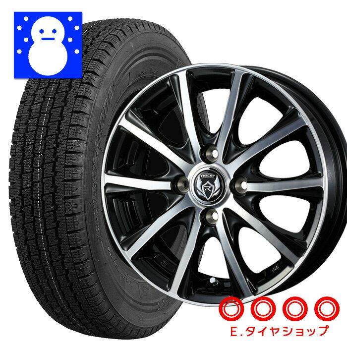 タイヤ・ホイール, スタッドレスタイヤ・ホイールセット 145R12 6PR W300 BRIDGESTONE ZM 124.0 1004 42 JWL-T 12 4