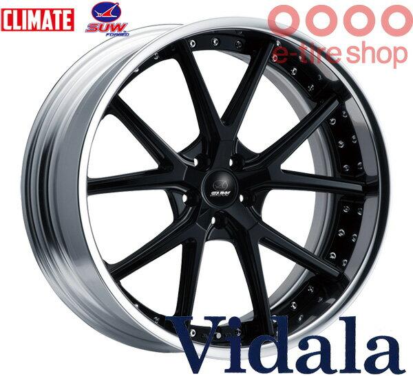 CLIMATE(クライメイト) SUW Vidala 22×8.0J PCD114/5 INSET(19 〜 32) ハブ高:34 カラー:クリアブラック 【ヴィダーラ】 【2ピースホイール】【ハイディスク】 注)ホイール1枚です
