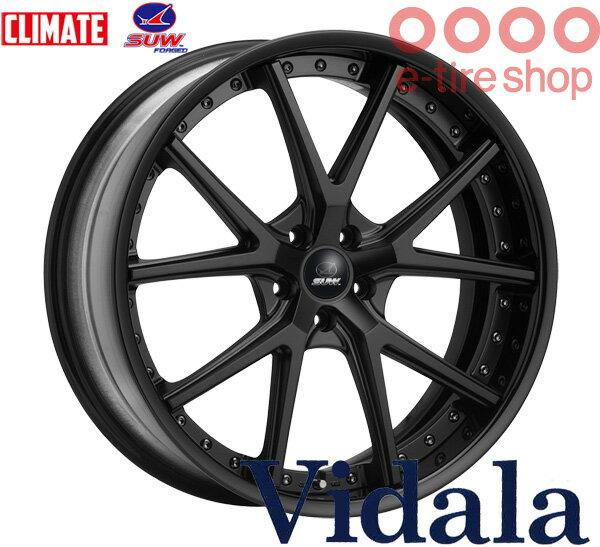 CLIMATE(クライメイト) SUW Vidala 22×8.0J PCD114/5 INSET(19 〜 32) ハブ高:34 カラー:マットブラック 【ヴィダーラ】 【2ピースホイール】【ハイディスク】 注)ホイール1枚です