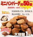 ハンバーグ メガ盛り約50個 一口サイズのミニハンバーグ(国産鶏使用)1kg カレー おでんにも最適なお惣菜 おかず【温めるだけ】【冷凍】【レンジでチン】