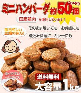【送料無料/送料込み】ハンバーグ 一口サイズのミニハンバーグでお弁当に最適!【冷凍】国産の...