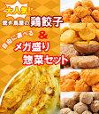 【送料無料】【餃子】大人気!焼き鳥屋の鶏餃子(500g 一個約28g)と選べるメガ盛りお惣菜2パックセット!【訳あり】【焼くだけ】