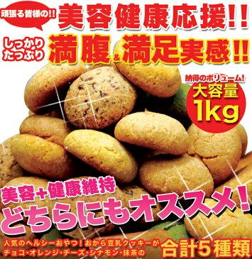 【送料無料】【同梱不可】おからクッキー(オレンジ・シナモン・チーズ・チョコ・抹茶)250g×4袋 (SM00010053)