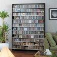 CD屋さんのCDラック 大容量 CD1,668枚収納可能 インデックスプレート20枚付き(おしゃれ ラック シェルフ オシャレ 収納棚 収納ラック DVD収納 CD収納 ナチュラル ホワイト 白 ダークブラウン cdラック cd収納ラック dvd収納ラック)