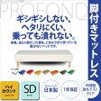 脚付きマットレスベッド ハイカウント (高密度スプリング) セミダブルサイズ [PROFONDシリーズ] 送料無料 02P23Aug15