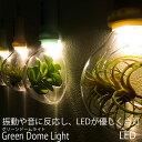 壁掛けインテリアの新定番LED Green Dome Light グリ...