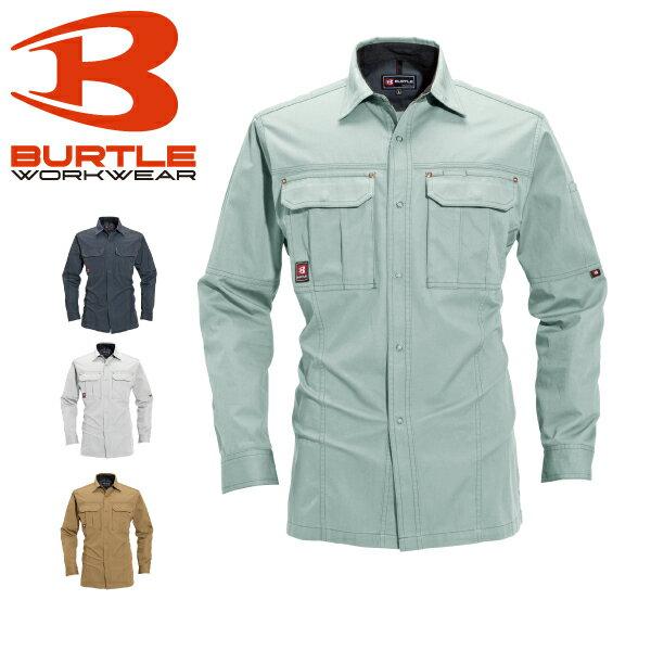 バートル 長袖シャツ 8093 日本製生地使用【春夏】BURTLE 作業着 作業服