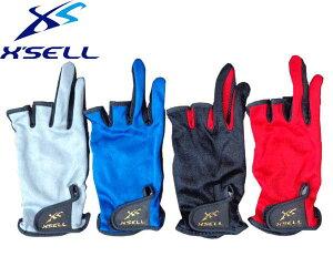 エクセル X'SELL CF-670 左右両手セット 3本指なしグローブ ・ 手袋釣り ・ フィッシング用夏・春・秋向けの薄手仕様 メンズ レディース