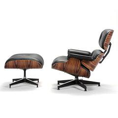 HermanMiller ハーマンミラー社「 Eames Lounge Chair & Ottoman 」 サントスパリサンダー【...