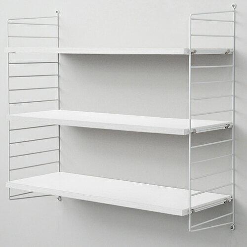 string(ストリング)壁掛け収納 「system BASIC 78×30」ホワイト×ホワイトフレーム
