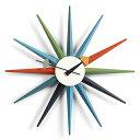 【ポイント10倍!】Vitra(ヴィトラ)「Sunburst Clock(サンバースト クロック)」マルチカラー