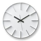 【簡単エントリーでポイント最大19倍!(8/20 10:00〜8/23 9:59)】Lemnos「 edge clock 」 φ350 ホワイト【取寄せ品】【送料無料】【P01】【flash】