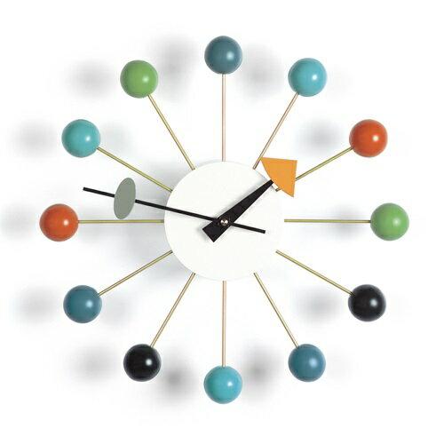 【ポイント10倍!】Vitra(ヴィトラ)「Ball Clock(ボール クロック)」マルチカラー