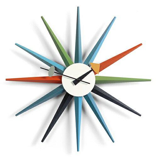 【1000円OFFクーポンあり|お買い物マラソン開催中!!ポイント最大34倍|4/16 01:59まで】Vitra(ヴィトラ)「Sunburst Clock(サンバースト クロック)」マルチカラー