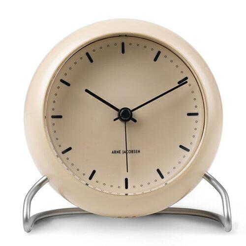 ARNE JACOBSEN(アルネヤコブセン)置時計 CITY HALL 110mm サンディーベージュ