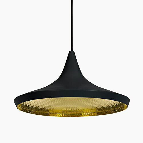 TOM DIXON(トム・ディクソン)ペンダント照明 BEAT WIDE PENDANT ビート ブラック(ランプ別売・専用ランプ)
