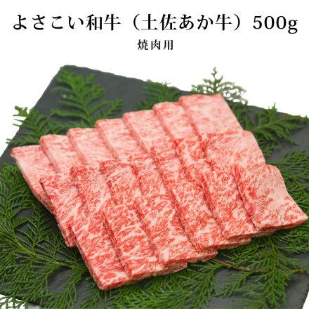 【希少】A4〜A5ランクよさこい和牛(土佐あか牛)500g 焼き肉用(A4〜A5)