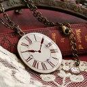 楽天ランキング入賞!1,227個完売!アンティークな時計のモチーフが不思議の国のアリスみたい◆...