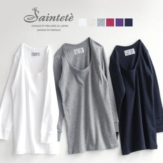 Simple cut-and-sew excellent at comfort elasticity! All 20 colors of basic seven minutes sleeve T-shirt / development ◆ Saintete (sun Tete) which I quit it though I wear it with one piece in standard, and the inner messenger is distinguished for in daily
