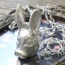●送料無料●おとぎ話に出てきそうなウサギをリアルに仕上げたインパクトMAXのロングネックレ...