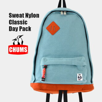 Ranging from outdoor durable Cordura nylon on the bottom used daily can use large unisex BAG / men combined / Day Pack Sweat Nylon ◆ CHUMS ( chums ): sweat x ナイロンクラシックデイ Pack