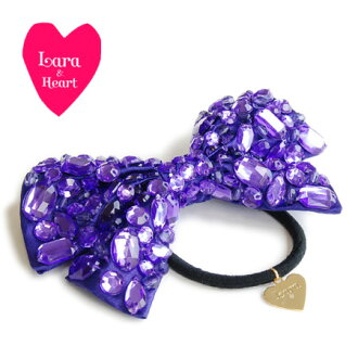 Using the large bijoux BIG reborn pony! Cute casual party gorgeous hair accessories ladies fashion fashion shop Rakuten ◆ &Heart Lara (Lara and heart): kirakirabijouribonhairgom