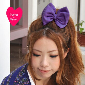 It is ON with femininity gently! Refined, neat and clean ribbon hair accessories /BIG ribbon / bracelet / bag charm / present / woolen yarn / present / color knit /fs3gm ◆ Lara & Heart (LARA and heart) which makes me pretty: Autumn ribbon hair rubber