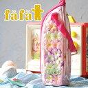 fafaのフローティングフラワーのような造花が浮かぶペットボトルケース♪500mlのペットボトルが...