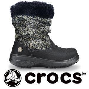Suede knitted inside boashortbootcozycrocsboo tea. From W4 (20 cm) up to W9 (25 cm) women's half length pettanko pettanko cute shoes fashionable ISACA Mania [crocs (crocs) cozycrocs bootie