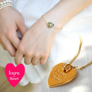 Lara & Hart logo a strained heart discreetly on your wrist! Her gold-colored Bracelet! Cute cute perfect ladies heart chain ◆ &Heart Lara (Lara and heart): heart plate bracelet