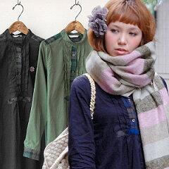 2011/12AW新作!トラッド・プレッピー・カジュアル・キレイめに着られるロングシャツ♪雰囲気の...