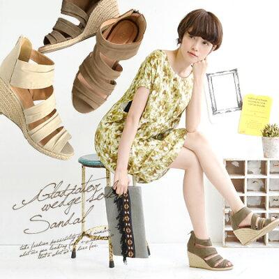 2013SS新色展開!ナチュラルなエスパドリューウエッジソールで履く、約8cmヒールの美脚ブーツサ...
