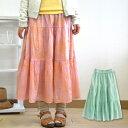 2012SS新作!ふんわり広がる切り替えスカートで春の装い完成♪タイダイ柄の絶妙なグラデーショ...