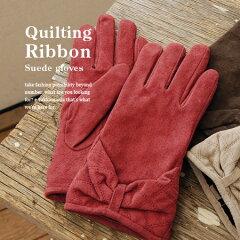 2012/13AW新作!しなやかな豚革スウェード手袋を、このプチプライスで!?フリース裏地であたた...