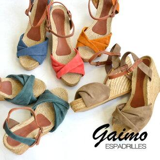 Suede upper. Wedge sole sandal shoes jute heel platform summer ◆ Espadrille by GAIMO (espadreayuvaigaimo):GILA-AC kashoolserdespadreayu sandals