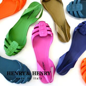 Made in Italy reasonable mesh Sandals can be used until the resort town from 'Spider'. Shallow shell design, effect of leg length • / vinyl/ranches and flat shoes and Italy made ◆ HENRY &HENRY Henry & Henry SPIDER