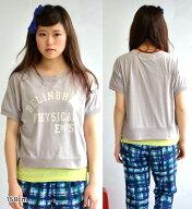 BELINGHAMPHYSICALロゴプリントショートTシャツ