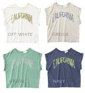 CALIFORNIAロゴプリントショートTシャツ