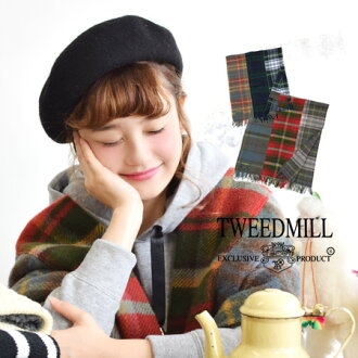 The MIX design which seamed various checked pattern together. It is / lap robe / import ◆ Tweedmill (tweed mil) patchwork wool check stall for big stall / shawl / blanket / knee of the durability, 100% of thermal wool raising in heaviness