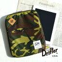 強度と耐久性抜群の1000デニールコーデュラナイロン使用したタブレットケース!アイパッドが収納可能 保護パッド タブレットカバータブレットPC カモフラ 迷彩◆Drifter(ドリフター)iPadケース