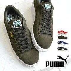 【送料無料】アッパーにスエードを使用した、スタンダードなデザインのローカットスニーカー。替え紐付き! レディース シューズ 靴 運動靴 スウェードクラシックプラス ライフスタイル シンプル 無地 黒 母の日◆PUMA(プーマ)Suede Classic+